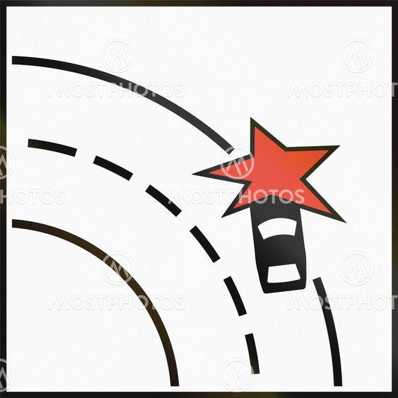 Norwegian supplementary road sign - Particular danger of...