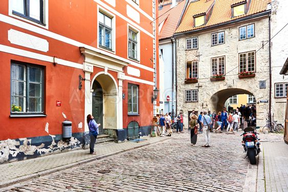 Old town of Riga. Northern Europe. Latvia