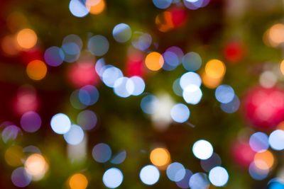 Christmas baubles on tree - Bokeh