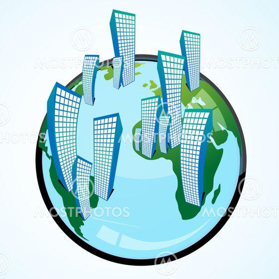 globus med bygninger