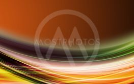 Abstract elegant wave panorama design with space for...