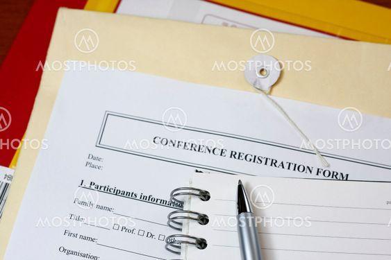 Konferenssin rekisteröintilomakkeen