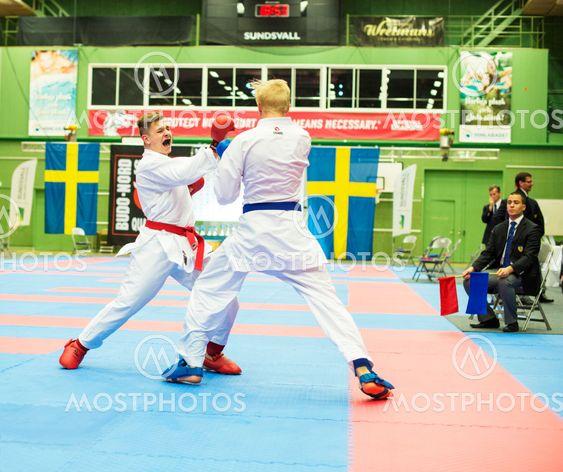 Kumite vid Karate SM 2014