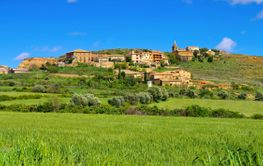 the medieval village  Castilsabas in Aragon