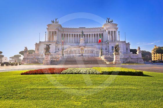 Piazza Venezia square in Rome Altare della Patria view