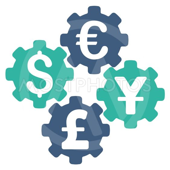 Financial Gears Flat Vector Icon