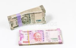 500 and 2000 Indian rupee currency bundle