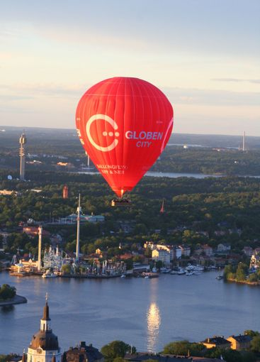 Air balloon over Stockholm
