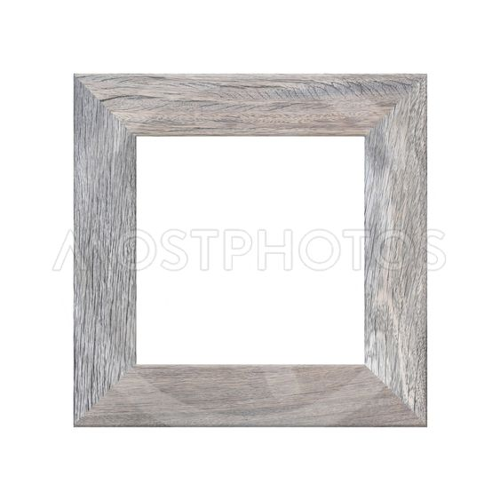 Wooden frame Picture isolated on white background for...