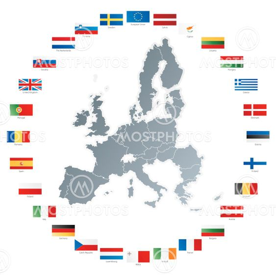 Domen Colja S P N Kuva Euroopan Unionin Kartta Lip Mostphotos