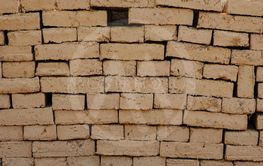 Mud bricks or bricks for building clay house.