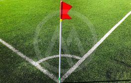 fotbollsplan i sommarljus