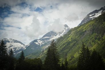 View of the Glossglockner high alpine road