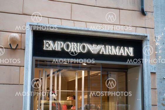 Emporio Armani store sign