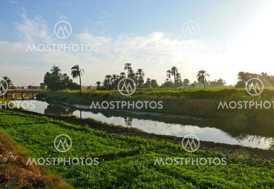 Irrigation canal near Luxor.