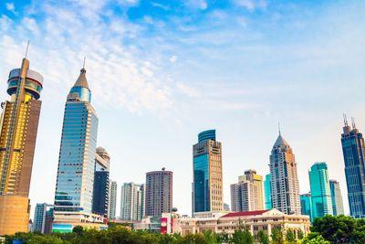 District Shanghai downtown skyscraper