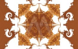 Seamless fractal monochrome brown white decorative retro...