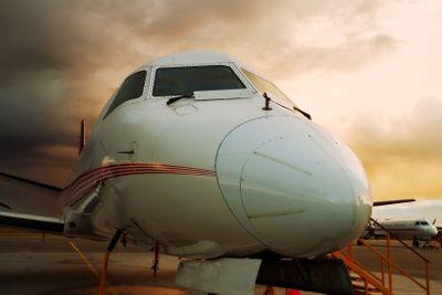 Aircraft close-up.