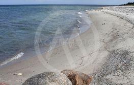 Rocks on beach on Funen in Denmark
