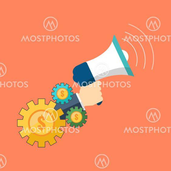 Promotion, marketing concept. Flat design stylish.