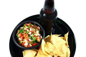 Ice Cold Beer And Salsa