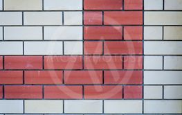 Brick wall background. Red and white bricks,  a lot of...