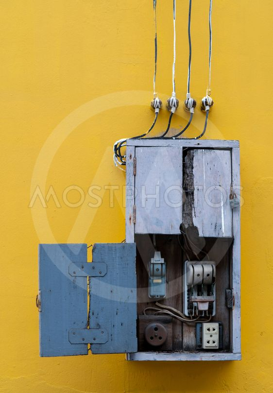 Miraculous Wooden Box Electric Contro By Artinun Prekmoung Mostphotos Wiring Digital Resources Timewpwclawcorpcom