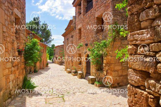 village Siurana in Catalonia mountains