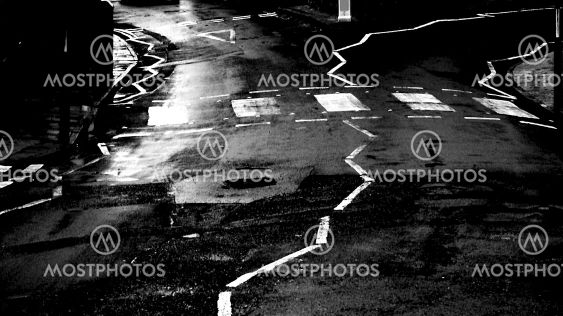 Abstract road crossing