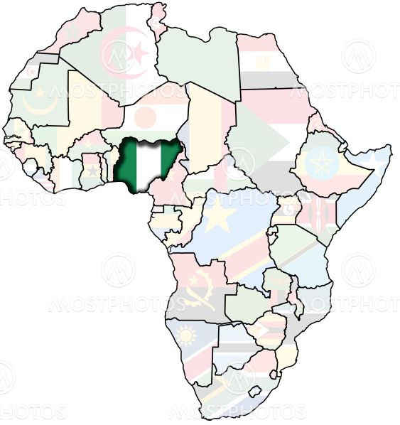 nigeria on africa map\