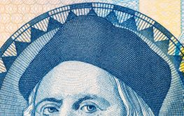 Christopher Columbus a portrait from Bahamian money