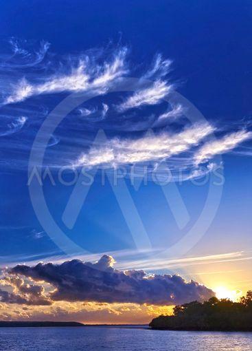 Blue Sky Sunrise Landscape