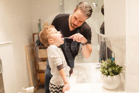 Pappa och pojke