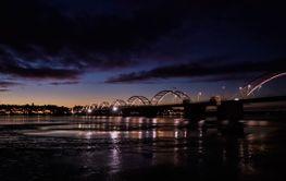 Novemberskymning över Bergnäsbron