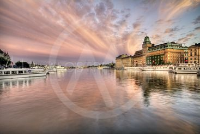 Amazing sky over Stockholm.