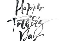 Happy fathers day hand drawn calligraphic lettering text...