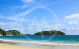 View of Nai Harn Beach in Phuket ,Thailand.