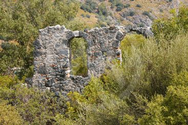 Ancient architecture on St. Nicholas island - Gemiler...