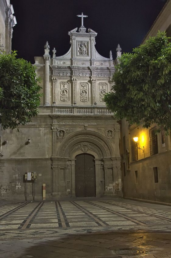 Details of the famous cathedral of Murcia overnight