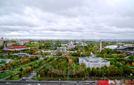 Panorama of All-Russia Exhibition Centre in Moscow, Russia