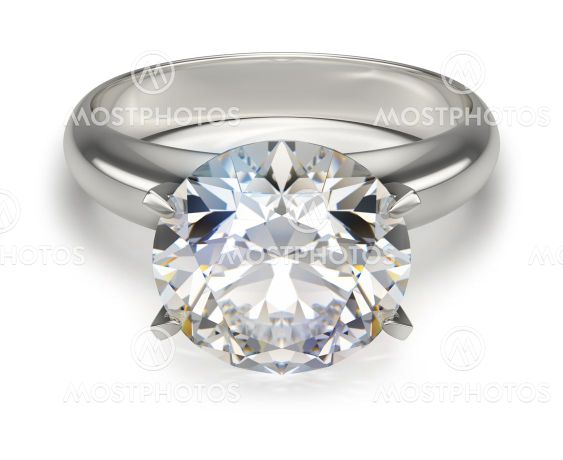 ring with a diamond