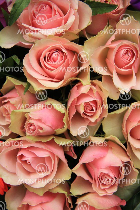 Bridal arrangement, pink flowers