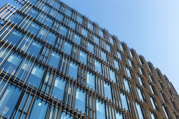 modern office glass building