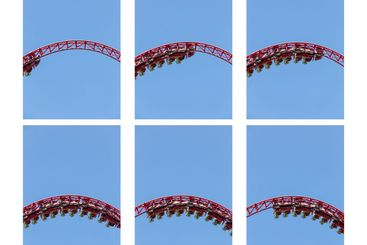 roller coaster ride in amusement park
