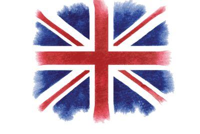 Watercolor British flag