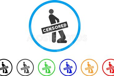 Censored Gay Oral Sex Rounded Icon