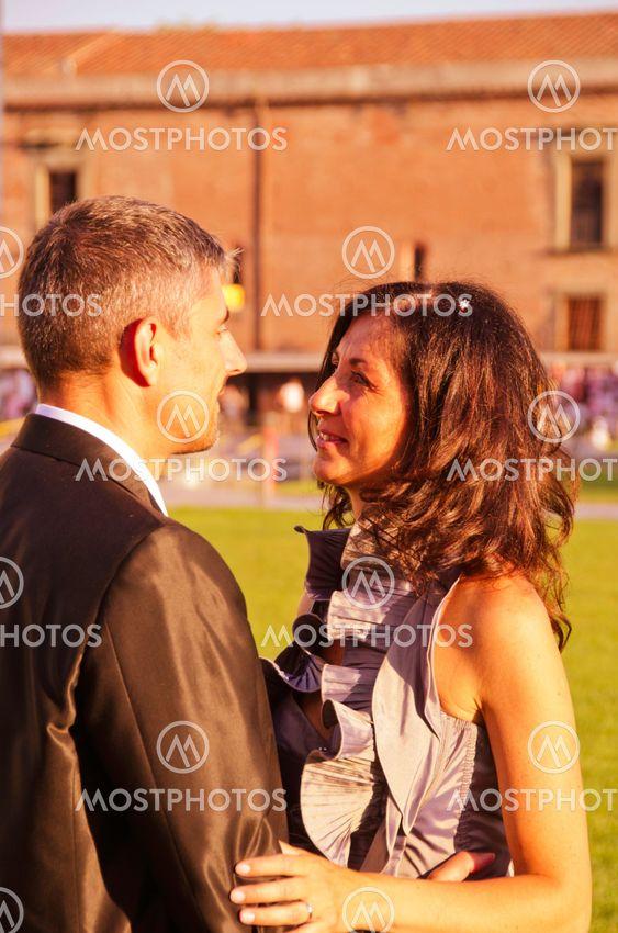 Loving Attitude between Bride and Groom