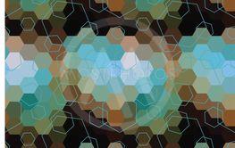 Geometric hexagon abstract background
