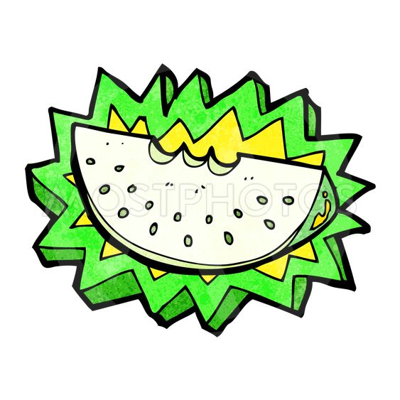 cartoon melon slice