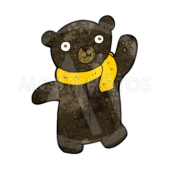 cute cartoon black teddy bear